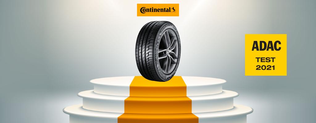 Na fotografiji je zmagovalka ADAC testa 2021, na katerem je bila najboljša letna pnevmatika Continental PremiumContact 6 dimenzije 205/55 R16.