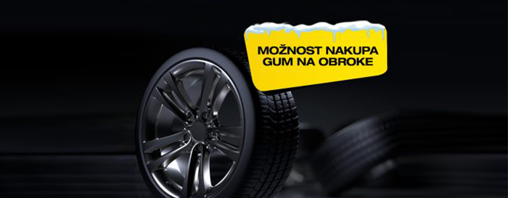 Na fotografiji so kvalitetne pnevmatike, ki jih je stranka kupila v spletni trgovini Gumenadom.si in plačala na obroke.